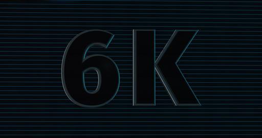 6K, 6000. 3D Promotion Intro. Text Logo Animation