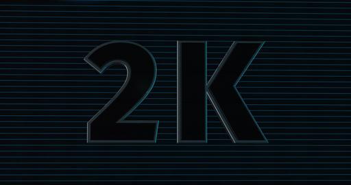 2K, 2000. 3D Promotion Intro. Text Logo Animation