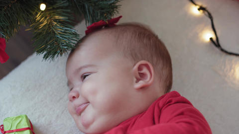 merry xmas, happy new year, infants, childhood, holidays concept - close-up Acción en vivo