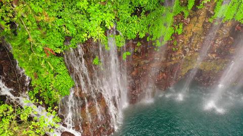Beautiful tropical waterfall. Philippines, Mindanao ライブ動画