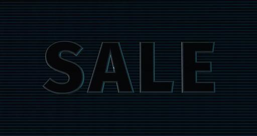 Sale. 3D Promotion Intro. Text Logo Animation