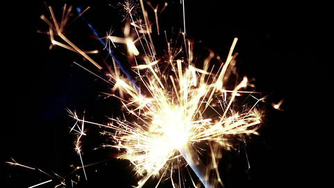 sparkler fireworks burning on a black background, congratulations, greetings, party, happy new year, 실사 촬영