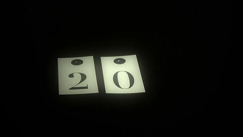 man playing with cards with number on black table, light on number, vintage style, congratulation Live Action