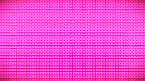 Broadcast Pulsating Hi-Tech Hearts Cubes Wall, Pink, Events, 3D, Loopable, 4K 애니메이션