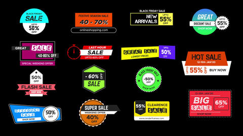 Sales Badges 4 0 After Effects Template