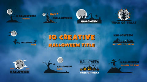 10 Creative Halloween title folder After Effects Template