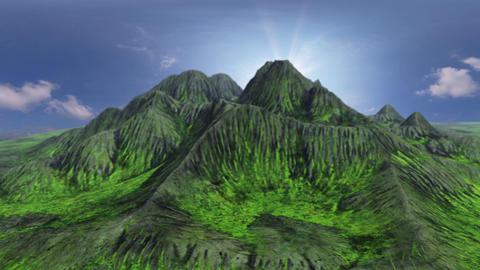 3D CG desert mountain loop animation Animation