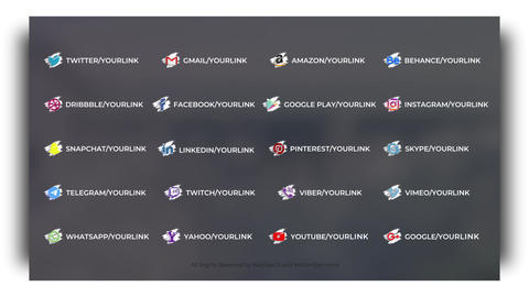 Brush Social Lower Thirds After Effects Template