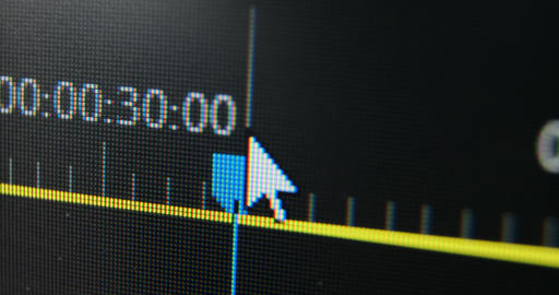 macro shoot the arrow on the timeline moves the cursor Live Action