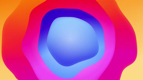 Plastic Colorful Shapes waves Abstract background 실사 촬영