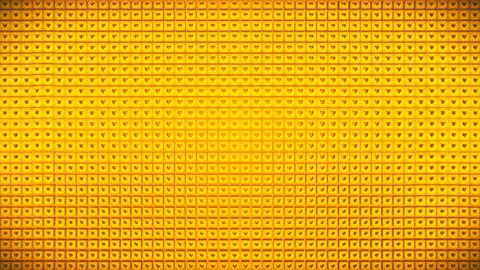 Broadcast Pulsating Hi-Tech Hearts Cubes Wall, Golden, Events, 3D, Loopable, 4K 애니메이션