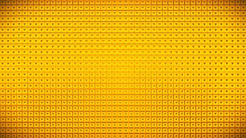 Broadcast Pulsating Hi-Tech Hearts Cubes Wall, Golden, Events, 3D, Loopable, HD 애니메이션