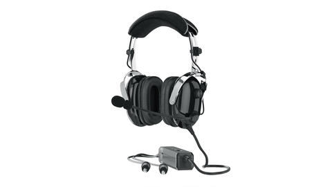 Headphones black glossy aviation Animation