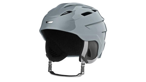 Helmet ski gray metallic Animation