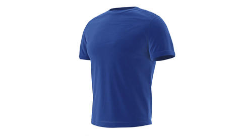 T-shirt blue mens with short sleeves Animation