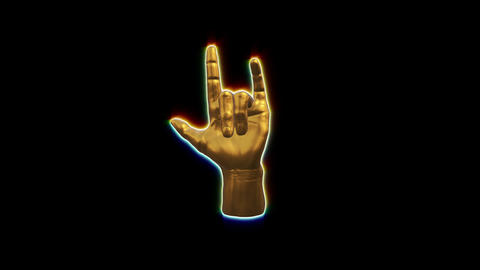 3D CG hand sign loop animation 動畫