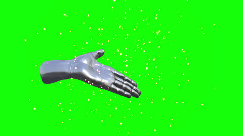 3D CG hand touch loop animation 動畫