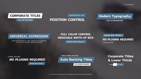 Auto Resizing Titles and Lower Thirds After Effects Template
