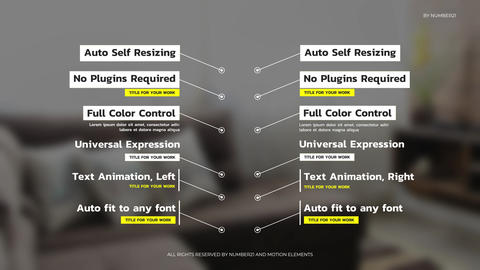 Call Outs Auto Self Resizing After Effects Template