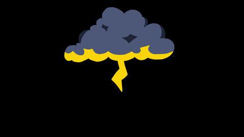 Thunder Cloud Electric Light Bright Light Mood Animation