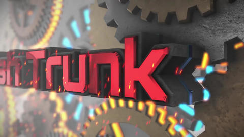 歯車の中で合体するロゴ After Effectsテンプレート