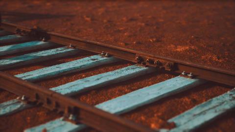 Abandoned railway tracks in the desert GIF