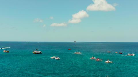 Sea attraction on the beach resort.Boracay island Philippines 실사 촬영