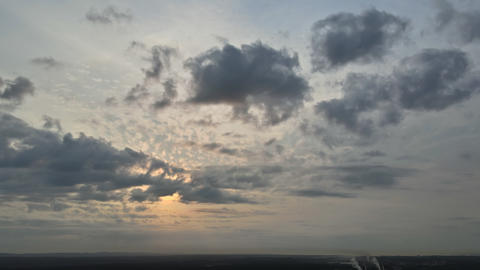 Morning dramatic sunrise clouds sky during beautiful sky time lapse Live Action