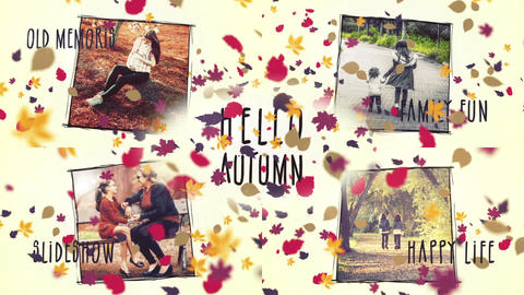 Hello,Autumn After Effects Template