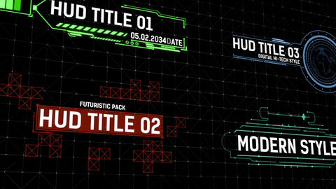 HUD Titles Apple Motion Template