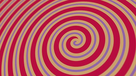 Hypnotic Circus Spiral Background Animation