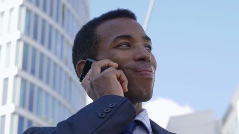 Businessman Using cell Phone: conversation, phone call, talking Footage