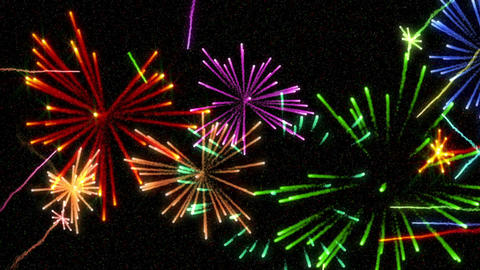 Fireworks celebration in night sky Animation