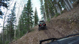 Follow recreation off road mountain forest POV fast 4K 942 Footage