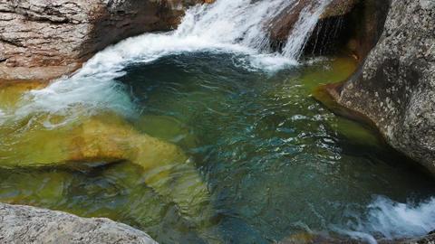 Bath Youth. River Auzun Uzen, the Grand Canyon of Crimea Footage