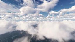 Through Clouds Over the Ocean Footage