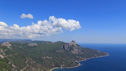 coast of Crimea. South. Laspi Bay. TimeLapse Footage