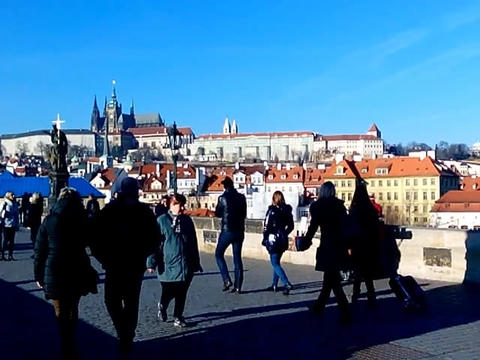 Organist on Charles Bridge Footage