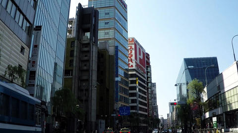 Tokyo city scenery, the city of Ginza Live Action