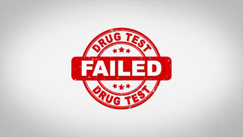 DRUG TEST Failed Signed Stamping Text Wooden Stamp Acción en vivo