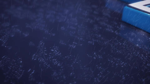 Element3D - 雨に打たれる3Dテキスト After Effectsテンプレート