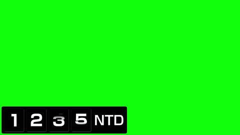 反転フラップ式値段表(ニュー台湾ドル)黒 After Effectsテンプレート