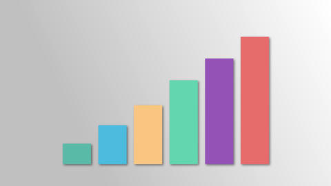 colorful growth graph business growth chart growth colorful market business graph market Animation