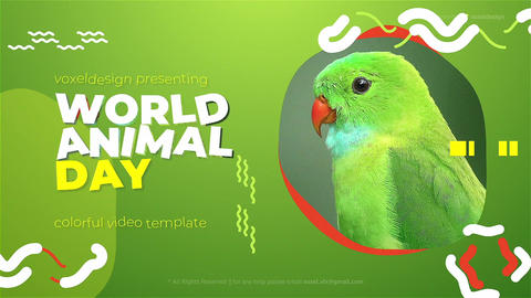 World Animal Day Opener After Effects Template