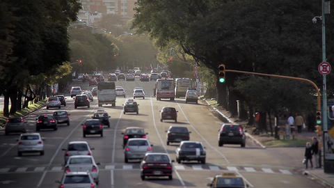 Traffic of Buenos Aires Footage