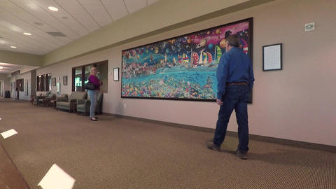 Hospital husband wife view puzzle art on wall HD 893, Live Action