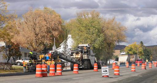 Industrial road construction asphalt highway DCI 4K 792