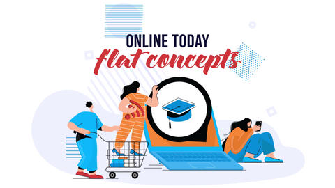Online Today - Flat Concept After Effects Template