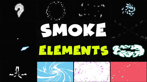 Smoke Elements Pack 06 Apple Motion Template