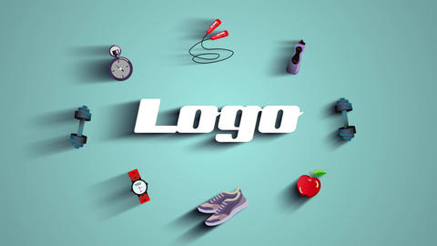 Gym Fitness Logo After Effects Template